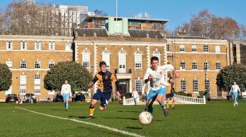 The HAC 1st XI Football Team match at Armoury House on Artillery Garden