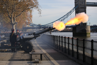 HAC fire a Gun Salute for the Prince of Wales' 70th birthday