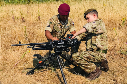 HAC cadet weapons training