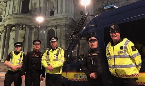 Special Constabulary Night Shift by St Paul's Cathedral