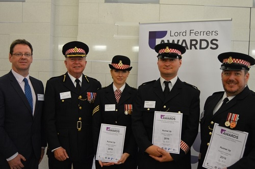 Special Constabulary receive an award at the Lord Ferrers Awards