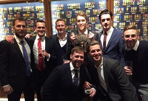 Football Club trophy winners in the Medal Room