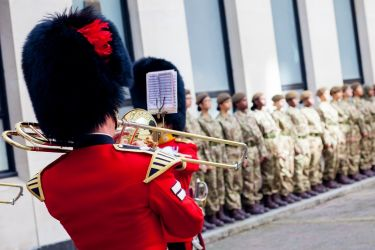 Mossbourne CCF Formation Parade  26.09.19  with Coldstream Guards  4