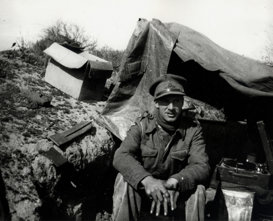WW2 11th Regt B Bty Mike Page at Charruba  Jan 1942