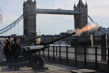 Prince of Wales  70th Birthday Gun Salute  7