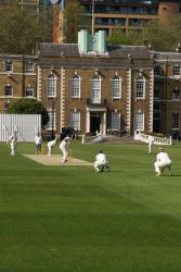Cricket at Armoury House with the HAC on the attack