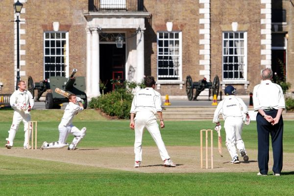 THE HAC Cricket batsman close