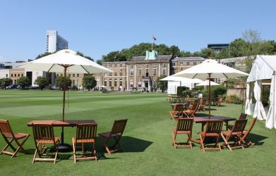 The HAC Artillery Garden Seating at Catering MQ